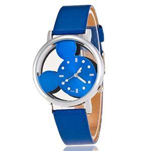 Montre Quartz Type Mickey Bleue (decoloisir, neuf)