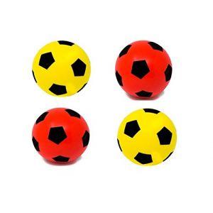 Ballon de football en mousse Taille 5, 2 Yellow+2 Red (SJ Sports Online Store, neuf)