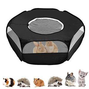 Parc pour Petit Animal, Cage Pliable pour Petits Animaux, Portable Tente de Cage, avec Couvercle Supérieur, pour L'intérieur et L'extérieur, Lapin, écureuil, Chaton, Chinchilla et Hérisson (Ccgxyr, neuf)