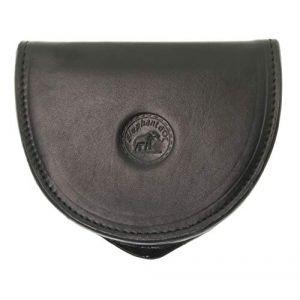 SECRETDRESSING - Porte Monnaie Cuvette Demi Lune Elephant D Or - 100% Cuir de Vachette - Espace pour Billets Noir (secretdressing, neuf)