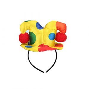 FRCOLOR Polka Dot Chapeau Bandeau Clown Cirque Adulte Femme Homme Costume Déguisement Bandeau (Ansuen, neuf)