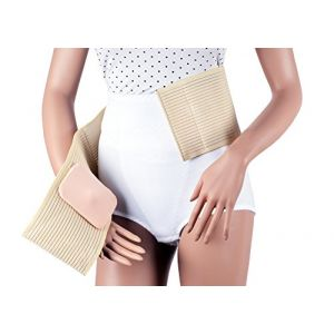 ASSISTICA® Ceinture Médicale de Hernie Ombilicale, Bandage de Hernie Abdominale Soutien (Taille 1) (ASSISTICA - Bas de Compression et Orthèses, neuf)