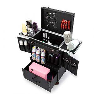 Coiffeur Boîte à outils Professional Grand Chariot Boîte à outils Sac tiroir Mot de passe Portable Organisateurs Ciseaux Pouch Holster Boîte de rangement (FYWD Personal Health/Health Care, neuf)
