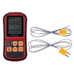 Rgbs double canal Thermomètre numérique avec deux K- type Thermocouples Température Mètre avec rétroéclairage LCD pour K/J/T/E/R/S/N thermocouple, pour l'industrie, l'agriculture, météorologie et Vie quotidienne etc. (RGBS, neuf)