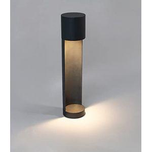 DAWALIGHT Borne Lumineuse Extérieure LED 6W 2700K Blanc Chaud, Borne Lampadaire Exterieur IP65 Étanche Aluminium Style Moderne Potelet Eclairage pour Jardin Chemin Cour Pelouse Parc, Noir (DAWALIGHT, neuf)