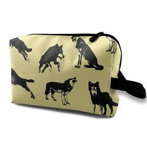 Sac cosmétique pour sac à main, BMX_133, tissu Oxford Mini sac de voyage coloré (Helen vi, neuf)