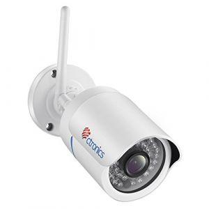 Caméra de Surveillance Extérieure WiFi, Ctronics Caméra IP Extérieure sans Fil 1080P HD, Visibilité Nocturne à, Alerte de détection de Mouvement, Etanchéité IP66, soutenir ONVIF et Intérieure(Blanc) (Ctronics EU Direct, neuf)