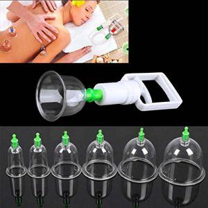 Shager Set de 12 Coupes Silicone Anti Cellulite Minceur Aspiration Sous Vide Massage Thérapeutique + Pompe à Air Soins de Santé (12Pcs) (Shager, neuf)