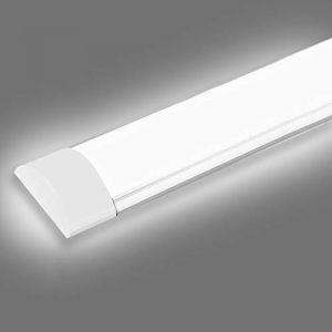 LED Tube Luminaire, 40W 120CM 4800LM Réglette LED, Couleur Blanc Froid, Ultraslim Led Plafonnier Pour Garage Bureau Supermarché Cave Atelier Département Salle De Bains Cuisine (Readyfor, neuf)