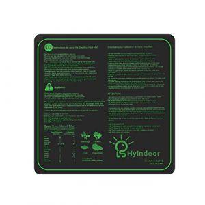Hyindoor Tapis Chauffant pour Semis Coussin de Chauffage Hydroponique Imperméable pour Semis Germination dans Serre de Jardin Heat Mat pour Reptile et Graine 50.8x50.8 cm (INDOOR GADEN, neuf)