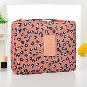 MZP Corée sac de lavage Kit de Voyage portable dame Voyage poche imperméable Voyage d'affaires Produits cosmétiques , pink leopard (ZhongPing Miao, neuf)