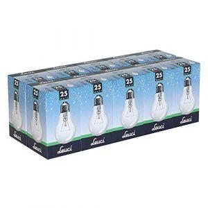 Leuci Lot de 10 ampoules à incandescence transparentes A55 E27 à intensité variable Blanc chaud, E27 25.00W 230.00V (ncc-design, neuf)