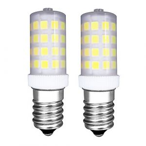 [2 Pièces] E14 Petit Led Ampoule 4W Alternative 40W Ampoule Halogène Hood Illumination Plastique Ampoule 6000k Blanc Froid-Dimmable Faible en Calories Utilisé Pour Réfrigérateur/Machine à Coudre (MZMing, neuf)