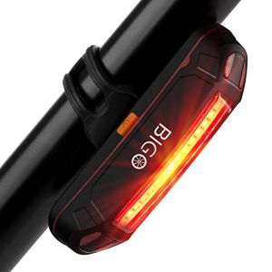 BIGO Eclairage Arrière Vélo Eclairage Velo Puissant Lampe Velo COB LED USB Rechargeable, 6 Modes Lumière Arrière, Résistant à l'eau, Feu arrière pour VTT VTC, Assurer la sécurité et visibilité (HOWEIN, neuf)
