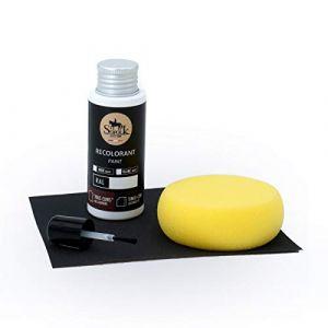 SOFOLK Kit de Retouche Peinture Cuir/Simili-Cuir/Vinyle - 12 Couleurs proposées - Entretien pour Siège et Volant de Voiture, Canapé, Chaussure, Veste et Autre Vêtements - (Noir - RAL 9005) (SOFOLK, neuf)