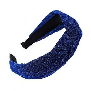 Femmes Bandeaux Cheveux Cerceau, Fulltime Mode lumineux soie tête cerceau Simple doux filles cheveux bandeaux (Bleu) (Fulltime, neuf)