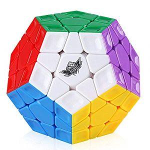 Coogam Cyclone Boys Speed Cube 3x3 Megaminx Stickerless Cube de Vitesse 12 Faces Megamix Dodécaèdre Cube Magique Puzzle Toy (Magic Cube sans Autocollant) (Liangyuan Tech, neuf)