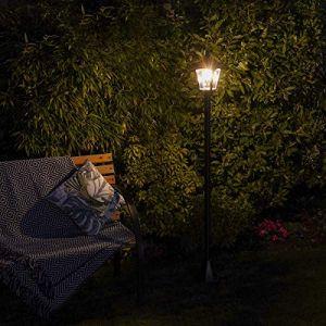Lampadaire Solaire LED Extérieur en Aluminium - Design Traditionnel ou Moderne - Taille et Têtes au Choix - Waterproof pour le Jardin par Festive Lights (Traditionnel Ampoule Filament, 210cm - 1 Tête) (Festive Lights Ltd, neuf)