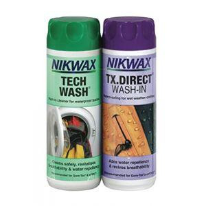 Nikwax Tech Wash/Tx. Direct Twin Pack Clean/Proof Value Pack - 300ml (Salveo Magasin, neuf)