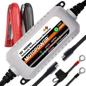 MOTOPOWER MP00205B 12V 1000mA Chargeur/Mainteneur de Batterie entièrement Automatique (MOTOPOWER® FR, neuf)