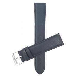 Bandini 16mm Bracelet de Montre en Cuir Italien pour Femmes - Bleu Marine - rembourré - Couture (Shoptictoc., neuf)