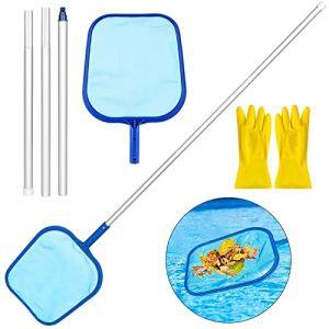 Gafild Épuisettes de Surface pour Piscine, Piscine en Maille Filet Outil epuisette Bassin écumoire Feuille 122cm, Épuisettes pour ramassage des Feuilles (CHANGKE EU, neuf)