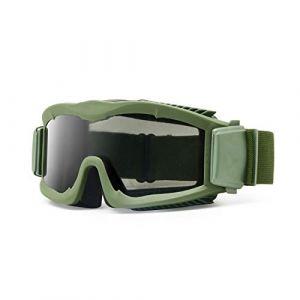Militaire Alpha Ballistic Goggles Tactique Armée Lunettes de Soleil Airsoft CS Paintball Lunettes 3 Lens Kit (armée verte) (EnzoDate, neuf)