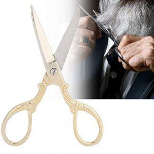 Ciseaux à sourcils Ciseaux à cheveux en acier inoxydable Ciseaux à sourcils Moustache Cisaillement Maquillage Outil de coupe Moustache Nez Cheveux et barbe Ciseaux de coupe Utilisation(02) (Yotown-eu, neuf)