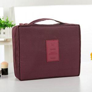 MZP Corée sac de lavage Kit de Voyage portable dame Voyage poche imperméable Voyage d'affaires Produits cosmétiques , wine red (ZhongPing Miao, neuf)