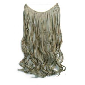 Rideau de cheveux ligne de pêche chimique de fibre perruque sans soudure pièce une pièce pièce extension de cheveux, rouleau 18H613 (youweikeji, neuf)
