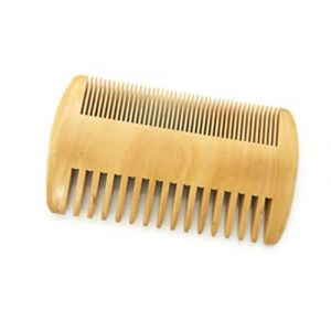 Peigne barbe tressé peigne perruque barbe petit peigne en bois peigne double face (EVAERSX, neuf)