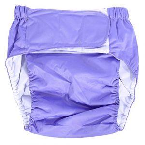 Broco Couche pour adultes, nouvelle couche lavable pour adulte Adjuatable en tissu, respirant, réutilisable, absorbant, super absorbant, couche moyenne, sous-vêtements pour incontinence(Lavande) (Broco, neuf)