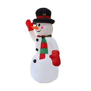 Bonhomme de Neige Gonflable Lumineux - Bonhomme de neige lumineux exterieur - Decoration noel gonflable - Noël decoration gonflable - Décoration lumineuse Décoration de Noël, fêtes Serria (Serria, neuf)