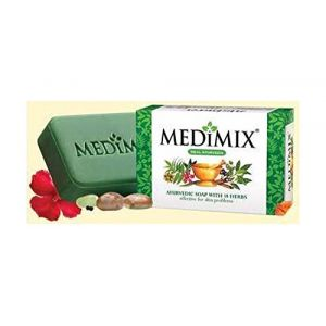 MedimixSavon ayurvédique glycérine Lakshadi Herbal cliniquement prouvée pour traiter l'acné, les odeurs corporelles et les infections de la peau 125g (ELEGANCE INDIAN STORE, neuf)