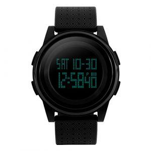 Pour homme Digital montre de sport LED écran Lager visage militaire montres et étanche décontracté lumineux Chronomètre Alarme simple armée montre (ForraderDirect, neuf)