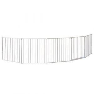 BabyDan XXL Barrière flexible pour protection de foyer cheminée Blanc (SAFETOTS, neuf)