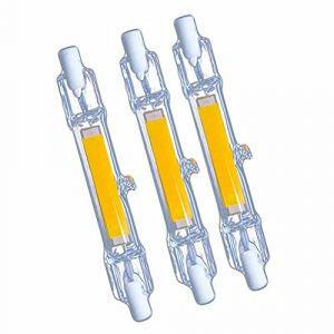 R7s 118mm Ampoule LED,30W Double Extrémité Lampe Linéaire J118 220V 3000 Lumen équivalent 300W Halogène Blanc Naturel 4000K pour Projecteur, Salon, Jardin,Non-Dimmable, lot de 3 (WYBUY, neuf)