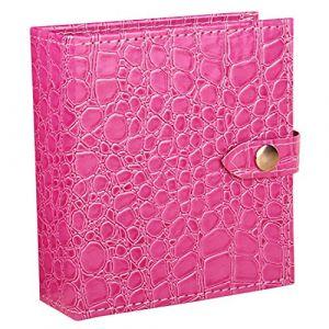 Sasairy Boîte à Boucles d'Oreilles Porte Présentoir Bijoux Livres en Pu Cuir Pour Rangement des Boucles d'Oreilles,Rose Chaud(Taille Grande) (Qiyou, neuf)