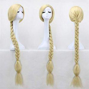 """47""""120 cm Super longue tresse blonde emmêlée princesse raiponce cheveux résistants à la chaleur Cosplay Costume perruque + bonnet de perruque gratuit (sipingshihengdeshangmao youxiangongsi, neuf)"""