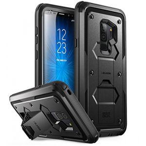 i-Blason Coque Samsung Galaxy S9+ Plus, [Série Armorbox] Coque Anti-Choc avec Béquille sans Protecteur d'écran [Protection Intégrale Robuste] pour Samsung Galaxy S9+ Plus 2018 (Noir) (I-Blason EU, neuf)