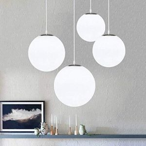 AUA Lustre boule en verre, Lampe suspension, Lampe intérieur simple pour Chambre Salon Couloir Restaurant Café 1pcs (25CM) (Kangmei Electronics, neuf)