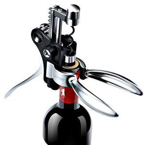 Tire Bouchon de Vin Coffret Cadeau Ouvre Bouteille - Un Amélioré Modèle 2020 Approuvé FDA. Kit de Débouchage Vin, Ensemble Cadeau Coupe-Capsule et Bouchon sous Vide pour Hommes Femmes, Oenophile (Hipunk-EU, neuf)