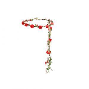 Couronne de fleurs bandeau guirlande florale guirlande florale bandeaux Accessoires photo Accessoires pour cheveux (rouge) (Veronicoar, neuf)