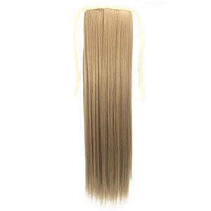 Bearbelly 55CM Faux long Drawstring Ponytail Clip dans Cheveux longs et lisses Reliure Postiche pour Fille Lady Femme (Bearbelly:?Promotion à durée limitée?, neuf)
