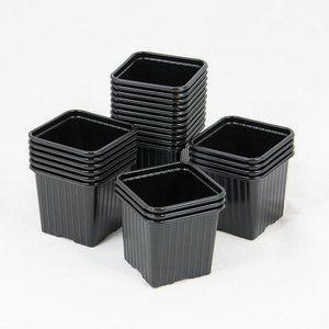 Godet pour semis 8 x 8 x 7 cm NOIR (x 50) (HYDROPLANETE, neuf)