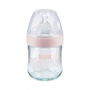 Nuk Nature Sense Biberon, 0-6mois, verre, brustähnlicher Gourde tétine en silicone (M.D. Shop, neuf)