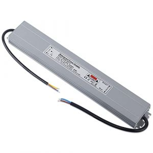 YAYZA! 1-Paquet Adaptateur ultra-mince compact pour pilote LED basse tension Étanche IP67 24V 12.5A 300W universel pour alimentation intérieur/extérieur à découpage CA/CC (ClickBuy Group, neuf)