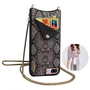 Qianyou, Sac bandoulière pour femme noir Noir iPhone 7 plus/8 plus (Qiyou, neuf)
