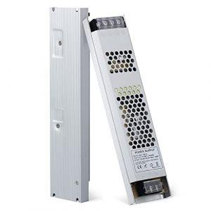 YAYZA! 1-Paquet Adaptateur Ultra-mince Compact Pour Pilote LED Basse Tension IP20 24V 6.25A 150W Universel Pour Alimentation Secteur à Découpage CA/CC (PlanetItaly, neuf)