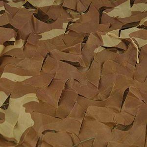 Filet de camouflage - Pour parasol, chasse, extérieur, armée - Camouflage désert , Wüsten-Camo, 4x5M(13x16.4ft) (Gocheer, neuf)